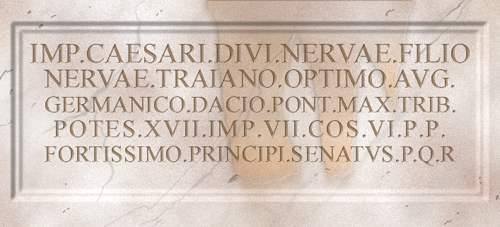 Inscription on the arch at Beneventum